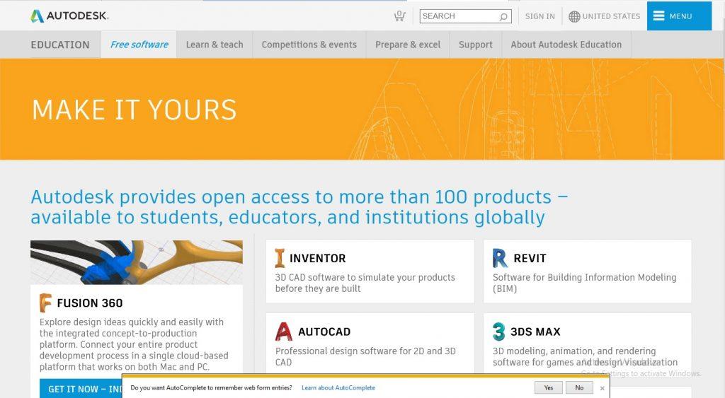 تحميل برنامج اوتوكاد 2020 من موقع اوتوديسك