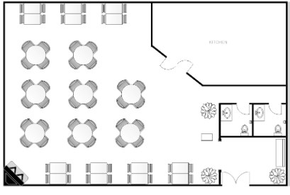 مخطط مطعم-تصميمات مطاعم